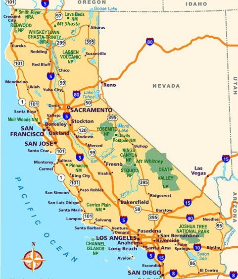 Map Of California Road Trip Planner Survivemag - California road map