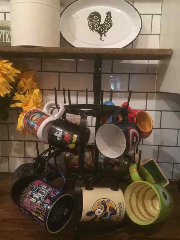 My Disney mug tree. Probably my favorite thing in my kitchen.