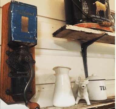 antique coffee grinder diy coffee bar
