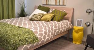 Funky green bedroom design