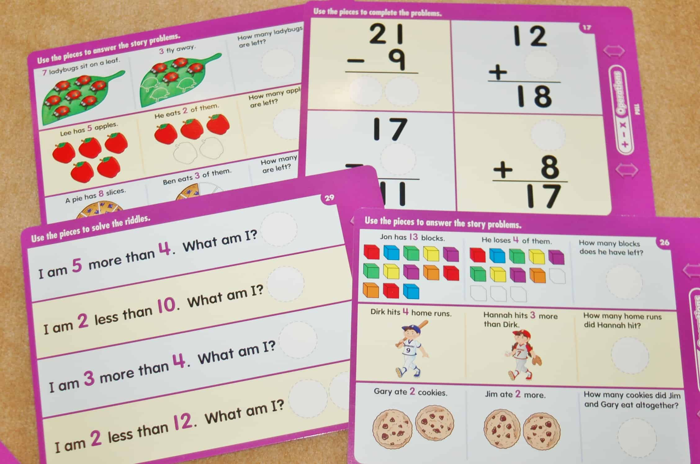 Operations Magnetic Math Activity Board From Lakeshore Learning