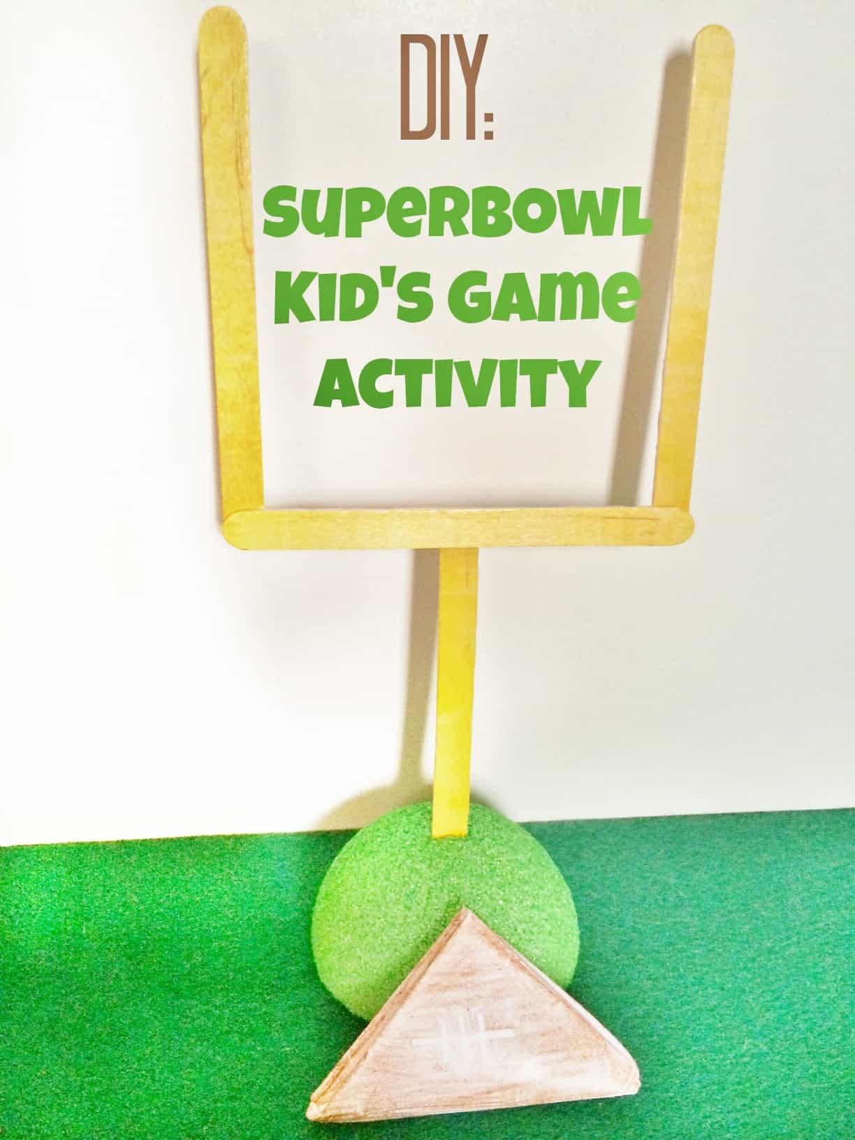 Diy Superbowl Kids Paper Football Game Activity