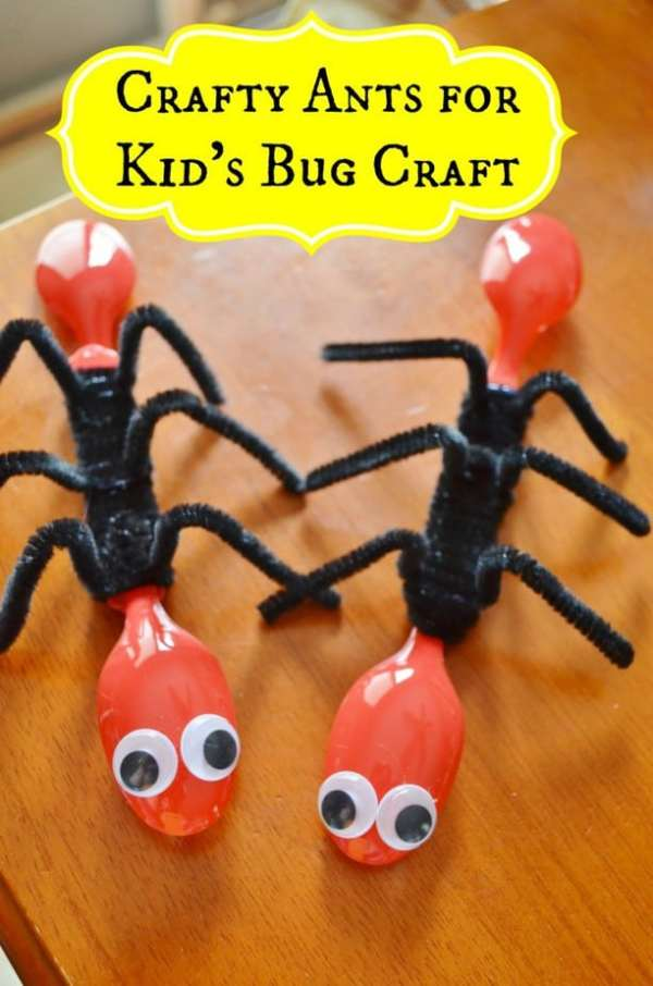 10 clever crafts using plastic spoons - cute ants
