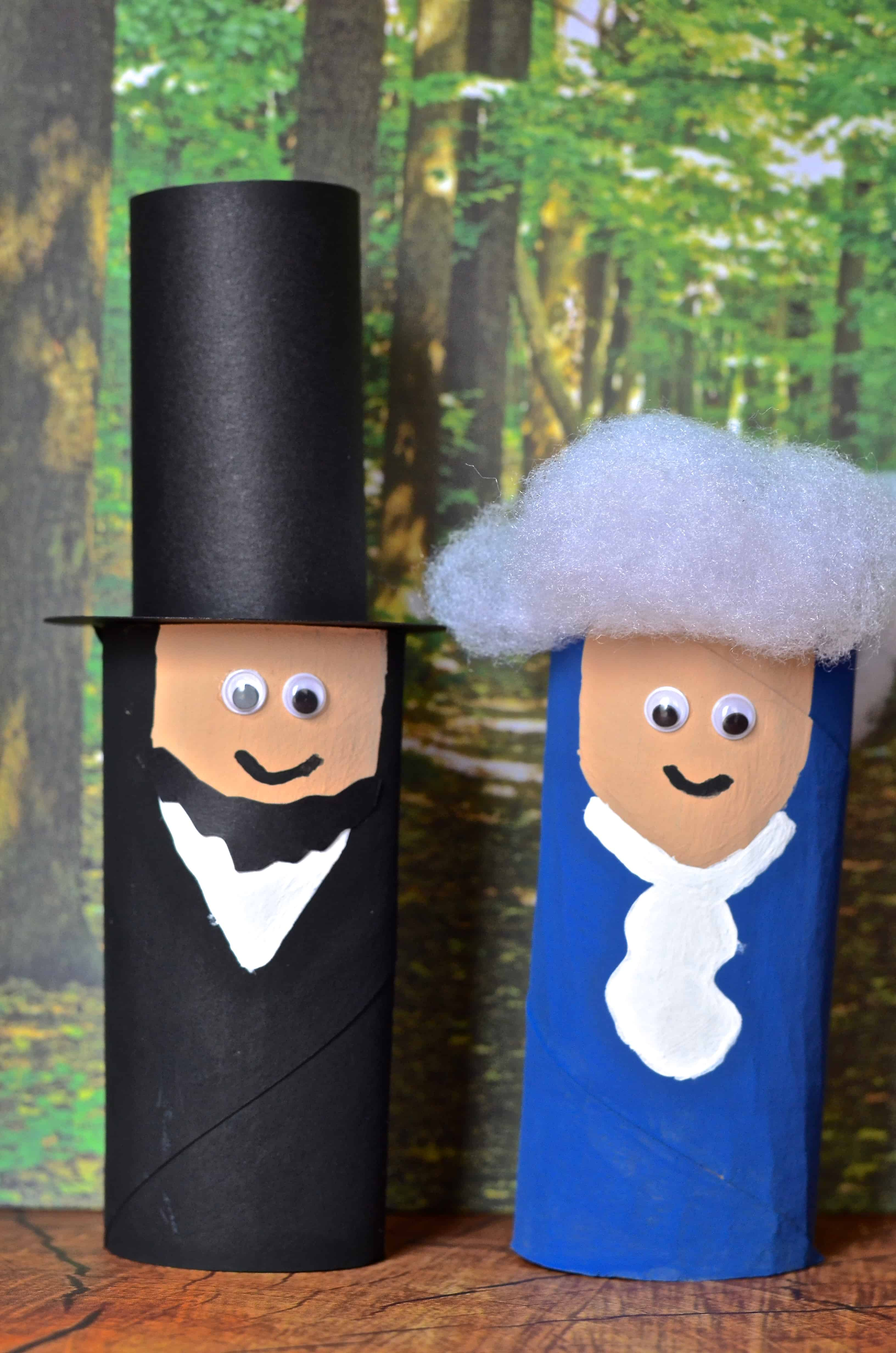 President Washington Lincoln Toilet Paper Tube Craft Kids