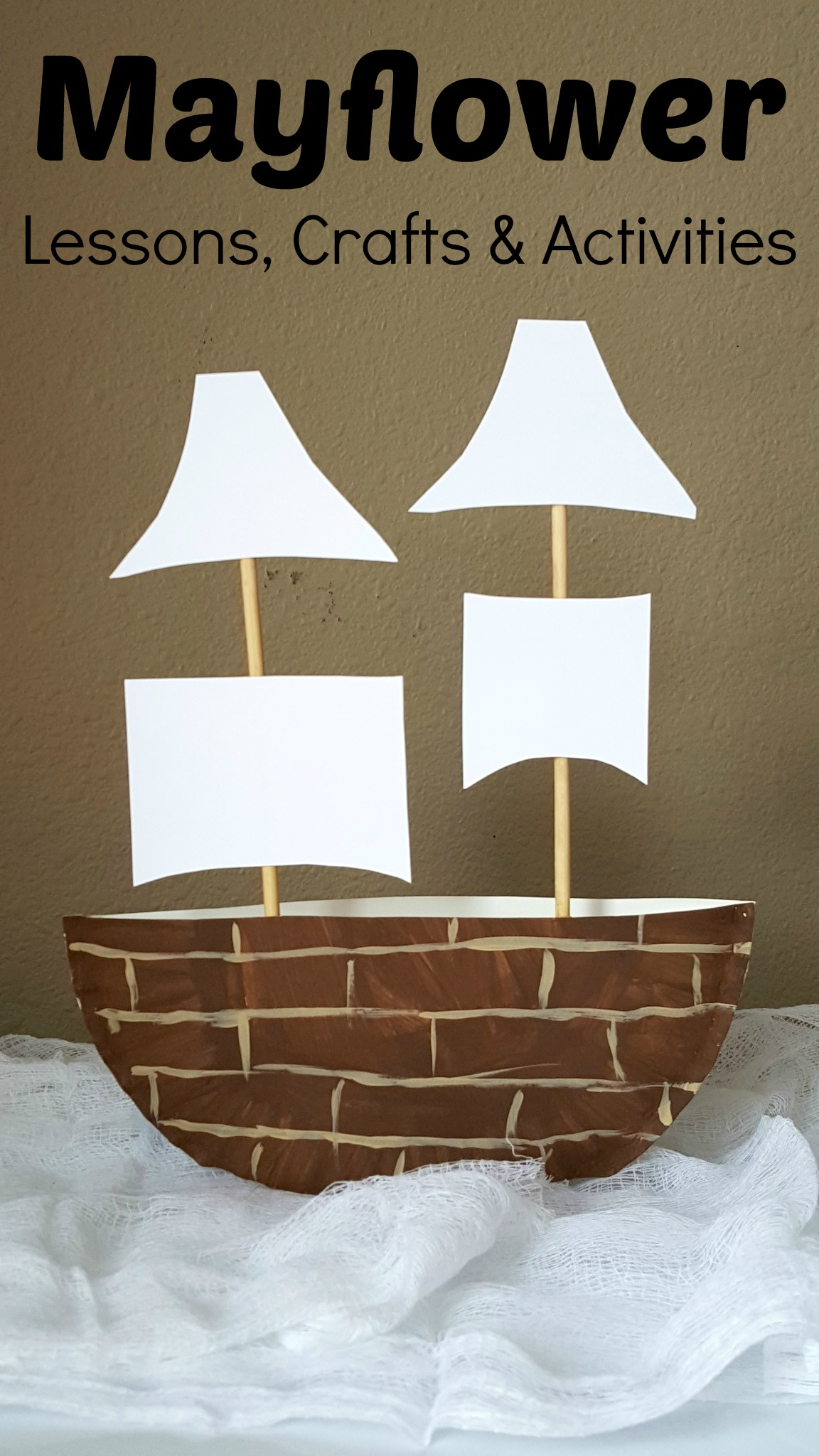 Mayflower Paper Plate Craft Amp Projects For Kids