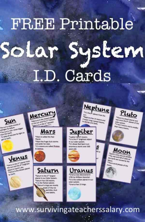 FREE Printable Solar System ID Flashcards for Space ...