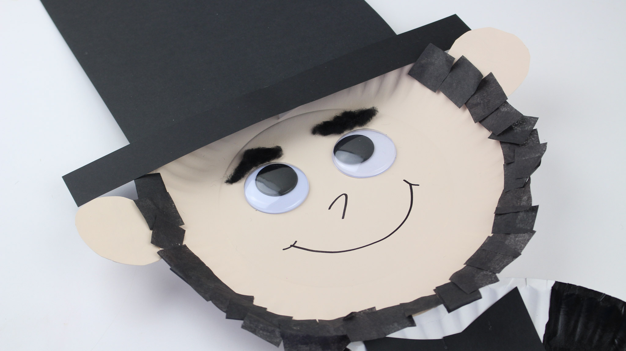 President S Day Abraham Lincoln Paper Plate Kid S Craft