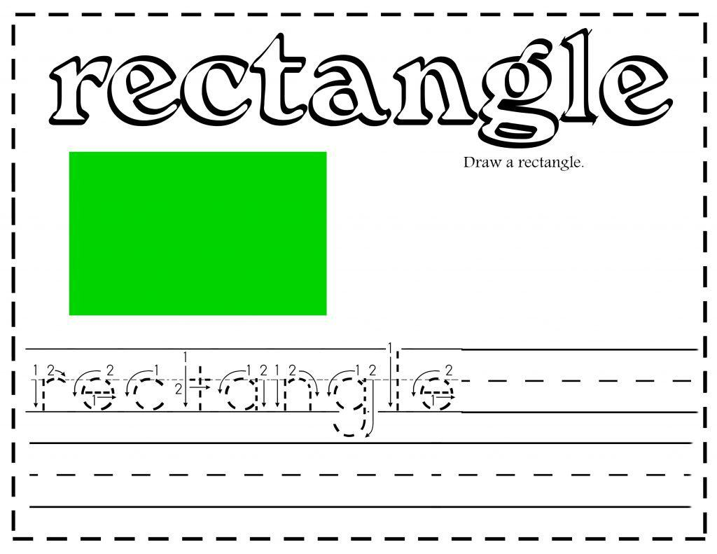Free Shapes Printable Worksheets Writing Activities