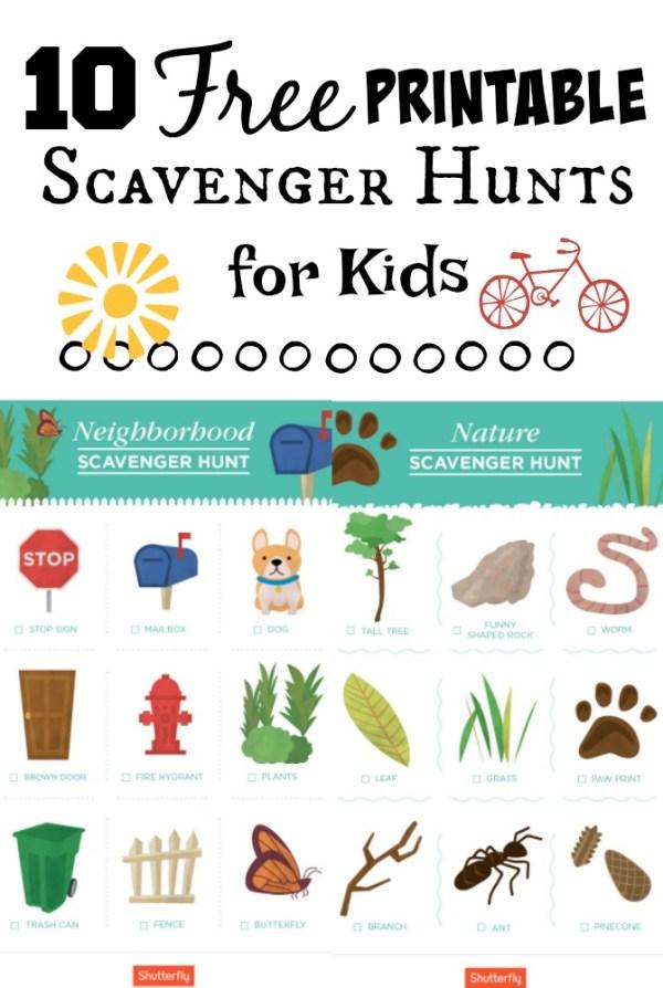 10 Local Scavenger Hunt Printable Worksheets for Kids