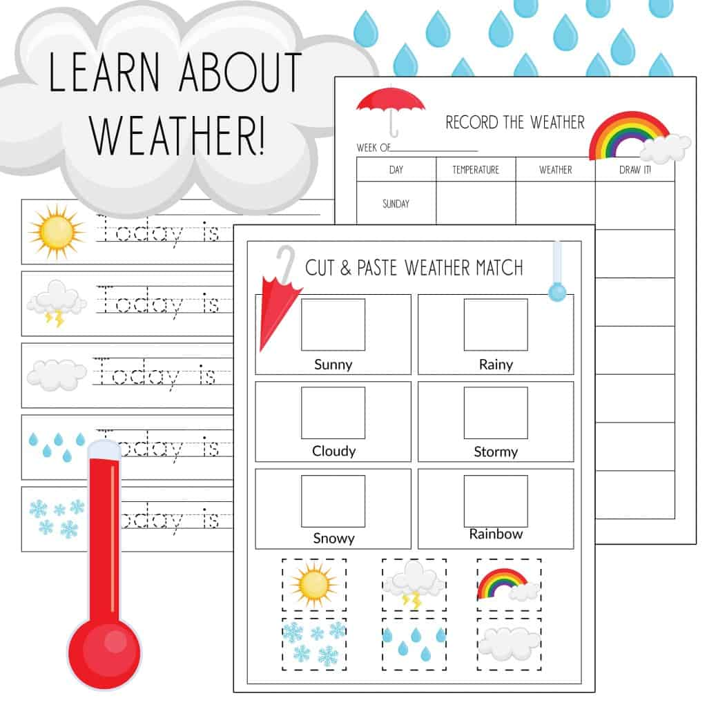Record The Weather Writing Practice Amp Weather Match Game