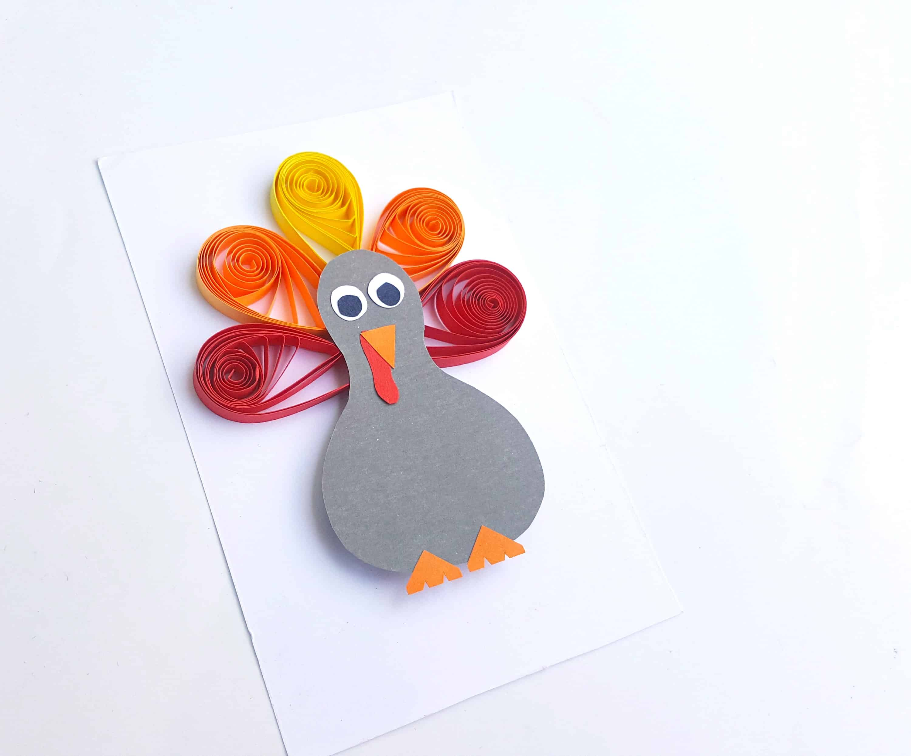 How To Make A Quilled Turkey Paper Craft For Thanksgiving