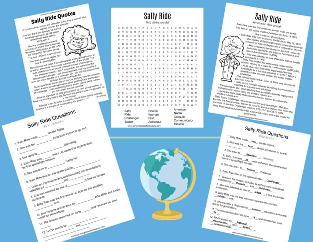 All About Sally Ride Worksheets Amp Activities For Kids