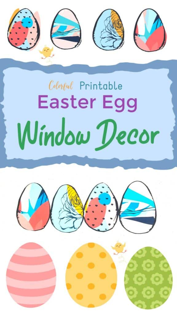 Printable Easter Egg Coloring Pages Window Designs