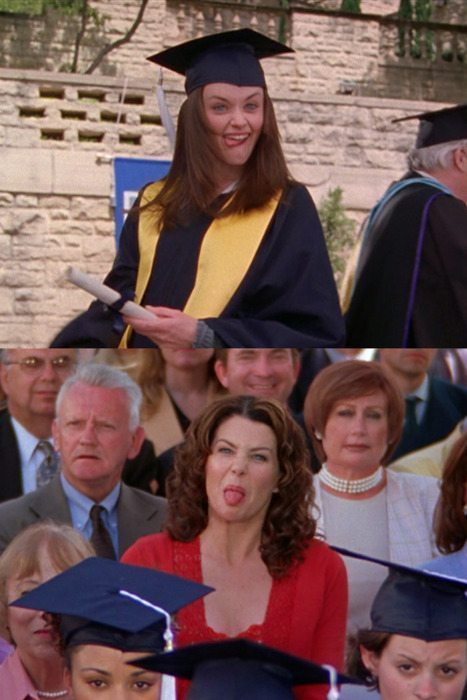 Gilmore Girls Rory Lorelai Graduation