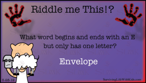 What Word Begins and Ends with an E but only has One Letter?