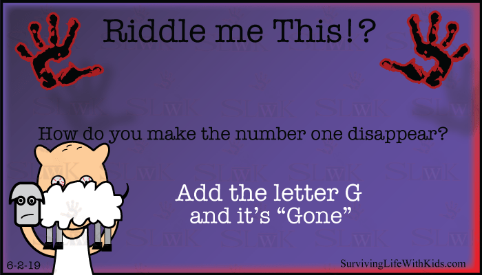 How do you make the number one disappear?