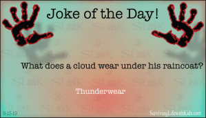 What Does A Cloud Wear Under His Raincoat?