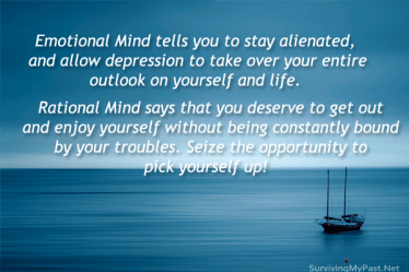 """dont-let-emotional-mind-bring-you-down-in-depression-quote-300x200 My thoughts on, """"Fake it until you Make it"""""""