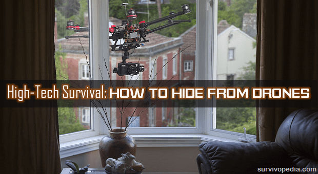 Drone spying through the window