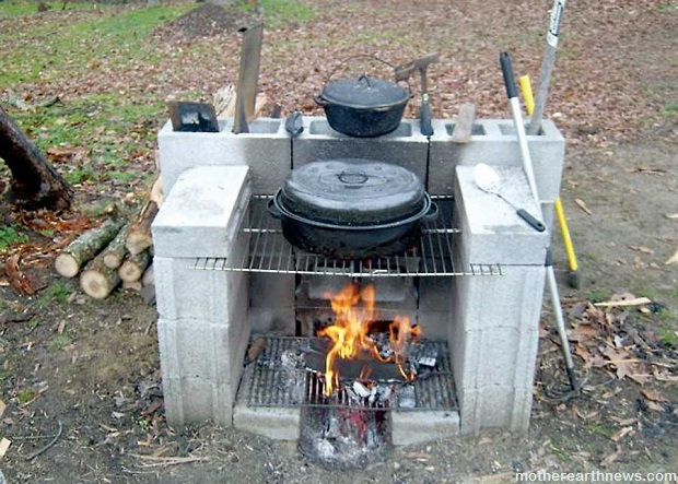 DIY Projects: 15 Ideas For Using Cinder Blocks | Survival on Building Outdoor Fireplace With Cinder Block id=62800