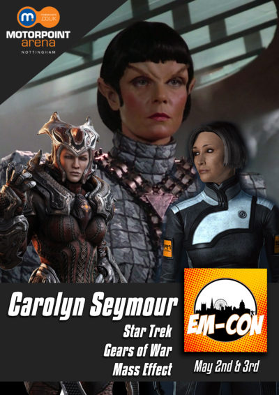 Carolyn Seymour to appear at Nottingham's EM-Con, 18-19 July 2020