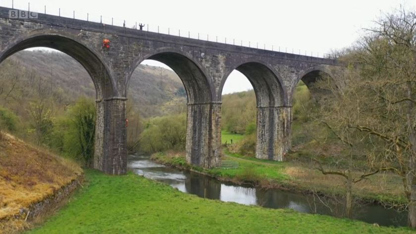 Countryfile - White Peak - May 2021 - The Monsal Dale viaduct viewed from the valley floor
