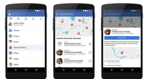 Image result for Facebook launches blood donations centre in India