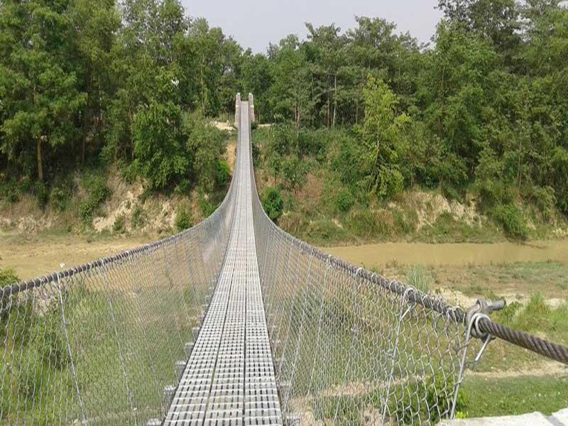झापामा २१ झोलुङ्गे पुल निर्माण