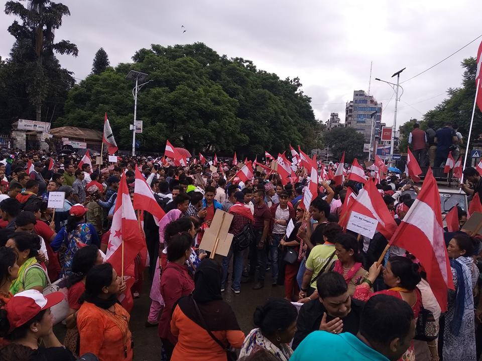 सानेपामा काङ्ग्रेसको भब्य चियापान, हजारौं नेता कार्यकर्ता तथा शुभेच्छुकको उपस्थिति