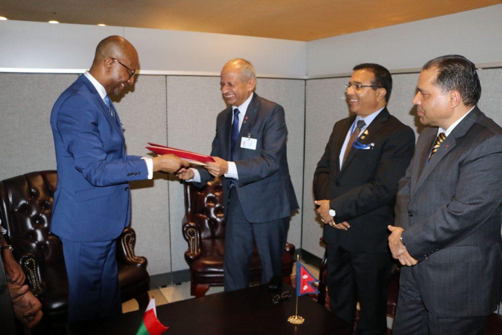नेपाल र माडागास्करबीच कूटनीतिक सम्बन्ध स्थापना