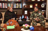 प्रधानसेनापति र संयुक्त राष्ट्रसङ्घका उपमहासचिवबीच भेटवार्ता