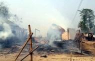 आगलागीमा चार घर जलेर नष्ट