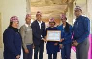 चुँडाललाई 'उत्कृष्ट नागरिक' सम्मान