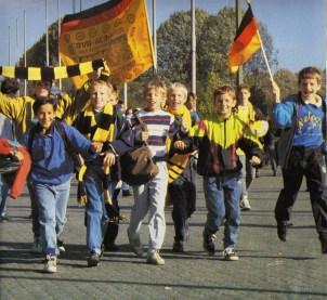 D-Jugend 1990 in Dortmund v.l. Stefan Kaiser, Hamudi Kasabto, Timo Zimmermann, Marco Bouma, Kai Wierike, Marc Duccareaux, Andreas Wellie.