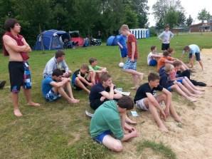 Beim Sandplatz-Fußballturnier