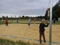 Die C-Jugend übt sich im Volleyball