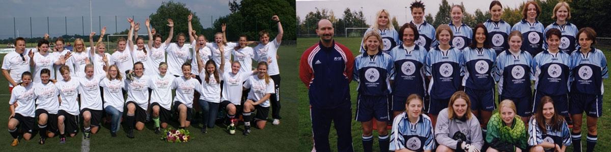 SuS Damen links: Bezirksligameister 2015 und rechts Kreismeister 2002AC