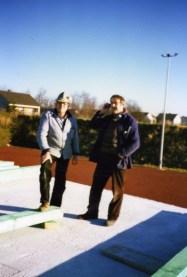Die Zimmerleute Heinz Hering und Egon Hinkelmann