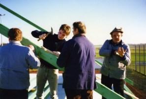 V.l. Rudolf Zimmermann, Christian Aring, Egon Hinkelmann, Heinz Hering