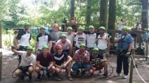 1. und 2. Mannschaft im Kletterpark Wetter am 10.07.2016