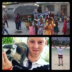 Christin Magh und Michel Berz in Kiwengwa auf Sansibar im September 2017