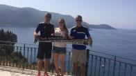 V.l. Thomas, Anna-Maria und Steffen Kree auf Korfu am 22.07.2017
