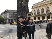 Michel Berz, Niklas Schulte, Erik Vickermann und Marco Hagedorn in Prag 29.04.17