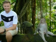 Peter Pyka auf Bali am 09.08.2018 im Scared Monkey Forest in Ubud