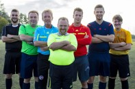 Unsere Schiedsrichter: V.l. Jens Hagedorn, Gerd Naake, Thomas Ostgathe, Michael Westerhoff, Marcell Siering, Peter Pyka, Luca Rohde