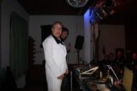 DJ Norbert beim Aufwärmen