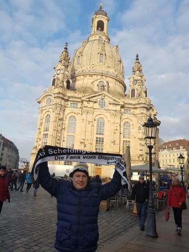 Gerd Naake vor der Frauenkirche in Dresden am 01.12.2018