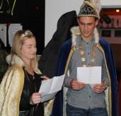 Unsere neuen Tollitäten Prinzessin Kira I. und Florian I. bei ihrer Antrittsrede