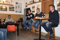Vorstand der AH v.l. Hacky Brauner, Holger Kürpick, Achim Grothe und Günther Plattfaut