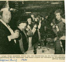 Karneval 1980 Pressebericht Kappensitzung